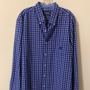 Chaps Shirts - Chaps Men's Button Up Shirt, size: XL